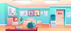 Buy Vet Clinic Reception by vectorpouch on GraphicRiver. Veterinary clinic reception, empty hall interior with desk, veterinarian doctor cabinet door. Episode Backgrounds, Anime Backgrounds Wallpapers, Casa Anime, Club Design, Grid Design, Graphic Design, Hall Interior, Vet Clinics, Cartoon Background