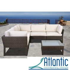 @Overstock.com - Majorca 6-piece Wicker Sectional - This wicker sectional that combines quality, style and confort. This modern set will make an immediate impact in your patio with contemporary style.  http://www.overstock.com/Home-Garden/Majorca-6-piece-Wicker-Sectional/6778301/product.html?CID=214117 $1,291.49