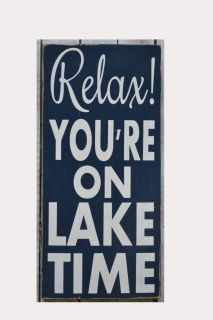 """Welcome and we are glad you stopped by!      A sign for the special place at the lake!      Please let us know if you would like a color change or wording changed from """"Lake"""" to something else such as river, beach, cabin, mountains etc    Signs are made with recycled wood and painted on all sides and back.  A hanger will be attached to the back.  Please let me know if you need any help.     Size of sign 20"""" x 10""""    24"""" x 12""""    Please let me know when checking out what you would prefer to…"""