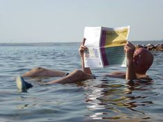 Reading in the Dead Sea