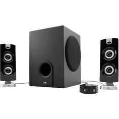 Cyber Acoustics CA-3602 Platinum Speaker System - 2.1-channel - 30W (RMS) / 62W (PMPO)