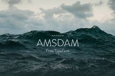 This is the FREE Amsdam typeface by Davide Mancini