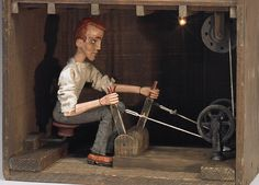 """""""The Operative"""" - 2007 - Automaton by Tom Haney Marionette Puppet, Puppets, Toy Theatre, Gear Art, Mechanical Art, Donia, Kinetic Art, Nautical Art, Wood Toys"""