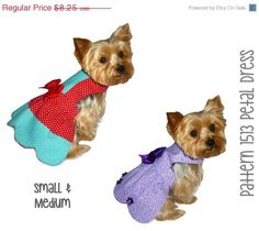 SALE  1513 Petal Dog Dress Pattern for the by SofiandFriends