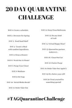 20 Day Quarantine Challenge! – The Autumn Girl