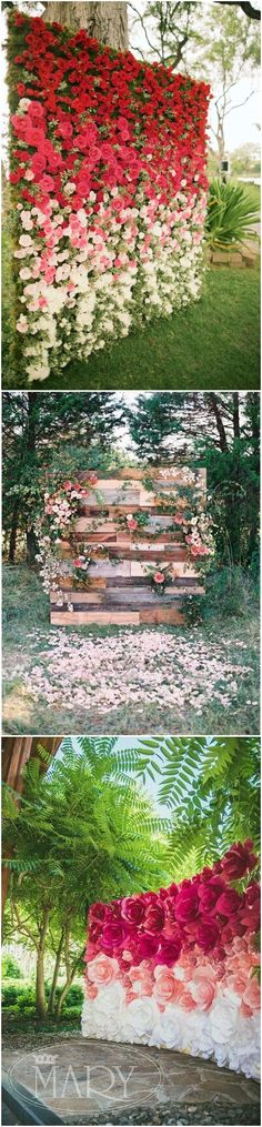 22  Trending Flower Wall Backdrops for Your Wedding Day!