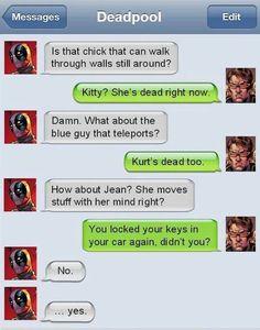 *Sigh* Deadpool strikes again