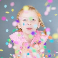 Photography Lessons, Photography Tutorials, Children Photography, Family Photography, Photoshoot Camera, Confetti Photos, Girl Photo Shoots, Bday Girl, Diy Photo