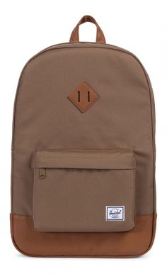 Don't hibernate on the all new Herschel Heritage Backpack Poly Cub/Tan. This sandy-hued beautiful brown backpack hosts a number of familiar construction upgrades signature to the Heritage, such as an internal laptop sleeve and keyclip, as well as cov Herschel Backpack, Herschel Heritage Backpack, Laptop Backpack, Herschel Supply Co, Snowboard Equipment, Pink Mossy Oak, Under Armour Sweatshirts, Camo Purse, Brown Backpacks