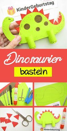 Dinosaurier als Deko f r die Party basteln Dinosaurier als Deko f r die Party ba. Dinosaurier als Deko f r die Party basteln Dinosaurier als Deko f r die Party ba… Dinosaurier al Crafts For Teens To Make, How To Make Toys, Diy For Teens, Diy For Kids, Diy And Crafts, Paper Crafts, Paper Dinosaur, Dinosaur Party, Teen Diy