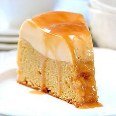 Tres Leche Flan Cake. Take care to follow the recipe exactly to avoid the flan fail!  And while I can't get enough of watching goats frolic, I think goat milk anything tastes like licking a wet dog, so I'd skip the cajeta (goat milk caramel) and use cow milk caramel, preferably homemade, along with the cake. But what an awesome presentation!