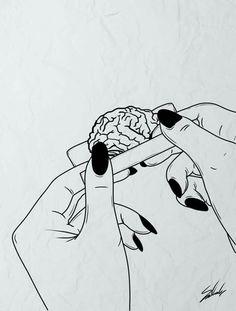 Cautionary PSA brains are bad for your drugs Welcome bad brains Cautionary drugs PSA is part of Trippy art - Art Inspo, Kunst Inspo, Inspiration Art, Pop Art, Art And Illustration, Tattoo Drawings, Art Drawings, Tattoos, Dope Kunst