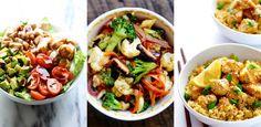 3 super leckere Gerichte mit viel Geschmack und wenig Kalorien