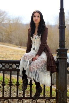 Embroidered Button Front Slip style pic on Free People