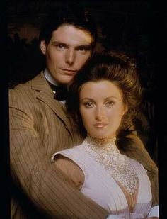 Christopher Reeve and Jane Seymour from the movie Somewhere In Time - 1980