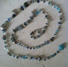Handmade Gemstone Crystal Necklace Blue by GypsiesBitsNBaubles