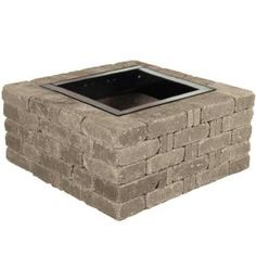 Natural Concrete Products Co 44 in. x 14 in. Concrete Fossill Limestone Round Fire Pit Kit-FSFPL - The Home Depot fire pits surround Pavestone RumbleStone in. Square Concrete Fire Pit Kit No. 6 in - The Home Depot Metal Fire Pit, Concrete Fire Pits, Wood Burning Fire Pit, Fire Pit Insert, Bricks For Sale, Outdoor Stone Fireplaces, Fire Pit Materials, Square Fire Pit, Fire Pit Ring