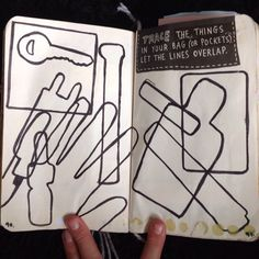 Wreck This Journal - Trace The Things In Your Bag