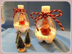Il filo di mais di Chiara Gloria e Daniela: Tutorial palline riciclo plastica: decorazioni natalizie
