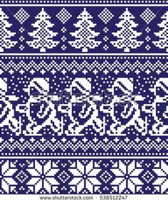 New Year's Christmas pattern pixel Knitting Machine Patterns, Knitting Charts, Knitting Stitches, Knitting Designs, Christmas Stocking Pattern, Christmas Knitting Patterns, Christmas Embroidery, Cross Stitch Borders, Cross Stitch Patterns