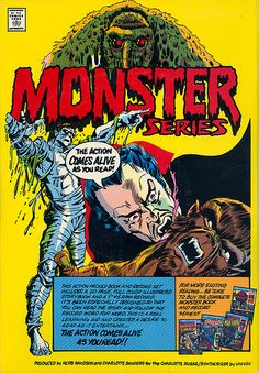 Ad for Power Records' Monster series of book and record sets (1976)