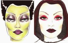 Jillian Undercover: Halloween Make Up! Bride Monster & Villain-ness