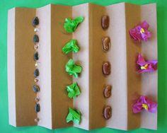 Garden Collage - cute craft using brown paper bag, tissue paper scraps, beans, peas, seeds. Farm Crafts, Garden Crafts, Cute Crafts, Garden Art, Garden Ideas, Preschool Garden, Preschool Art, Preschool Themes, Toddler Preschool