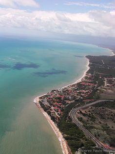 Seixas Beach, the eastern end of the Americas. João Pessoa (capital), State of Paraíba, BR.