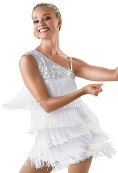 Looking for a performance outfit with tons of flair? Check out Dancewear Solution's One-Shoulder Fringe Dress. It comes in FIVE different colors, and is one of our BEST SELLERS!