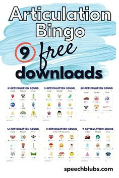 Looking for a fun way to practice speech sounds at home or during speech therapy? Look no further! Grab these FREE 9 articulation bingos to play with your kids or students. Speech games for the win! Teaching Life Skills, Coping Skills, Fun Activities For Kids, Games For Kids, Speech Therapy Games, Speech Delay, Speech Room, Language Development, Speech And Language