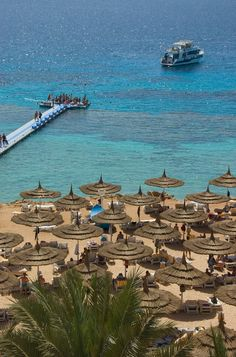 The beach resort area of Sharm el Sheikh on the Red Sea, Egypt Places Around The World, Oh The Places You'll Go, Places To Travel, Places To Visit, Around The Worlds, Dream Vacations, Vacation Spots, Sharm El Sheikh Egypt, Wonderful Places