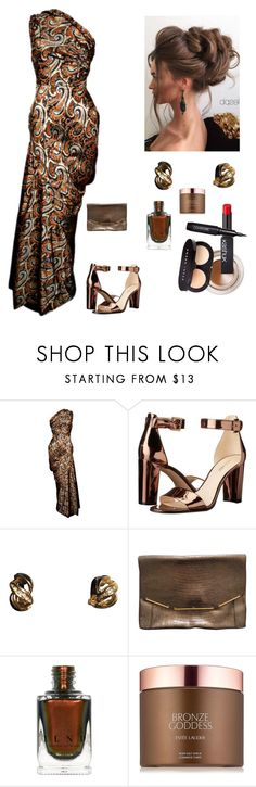 """""""Gorgeous in Metallic"""" by kotnourka ❤ liked on Polyvore featuring Givenchy, Nine West, Christian Dior, Lanvin and Estée Lauder"""