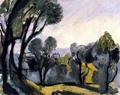 Landscape with Olive Trees / Henri Matisse - 1918馬蒂斯(1869-1954)法國畫家,野獸派創始人。