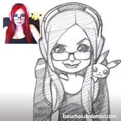 Sophiwophi reference. #twitchtv #twitch #streamer #pikachu #chibi #headphones #redhair