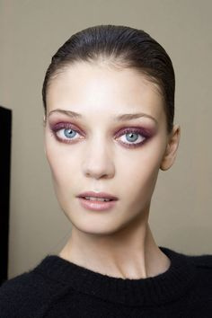 Laroche brought the drama with moody, violet-hued smoky eyes that were equal parts sultry and demure.%0A  - MarieClaire.com