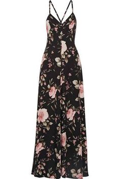 Alice + Olivia - Alves Floral-print Crepe De Chine Maxi Dress - Black - US6