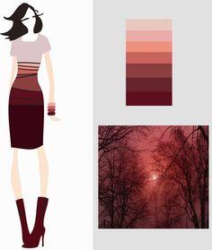 form & color: Color marsala – accostamenti cromatici
