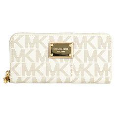 Michael Michael Kors Jet Set MK Logo Vanilla Continental Wallet