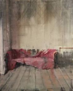 """""""Worn Out Pink,"""" original figurative painting by artist Fanny Nushka Moreaux (France) available at Saatchi Art #SaatchiArt"""