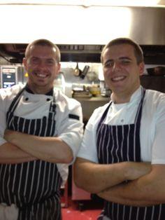 Head Chef Tom Lawson & Sous Chef Craig Middleton, Devonshire Arms, Middle Handley