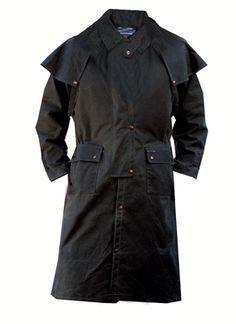 Men's Waterproof Oilskin Low Rider Duster Jacket