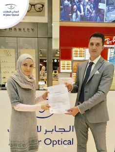 Congrats again Dimah! You earned the voucher. It was nice meeting you!  Good luck for all of you next time! You might be the next winner! Participate and win!  #Aljaber_optical #winner #competition #chanllenge #prize #voucher #UAE #Dubai #Sharjah #Abudhabi #Alain #RAK #health #Beauty #Fashion