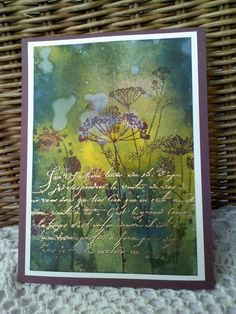"""https://flic.kr/p/eid48r   golden script in the meadow   as i love nature so much, i tried to make some atmosphere with watercolors first, and then stamped the script and embossed with gold..  my guest appearance in paperie designs´studio you find here: <a href=""""http://paperiedesignsstudio.blogspot.de/2013/05/franziska-glaubitz.html"""" rel=""""nofollow"""">paperiedesignsstudio.blogspot.de/2013/05/franziska-glaubi...</a>  Happy Mothers Day to you!!"""