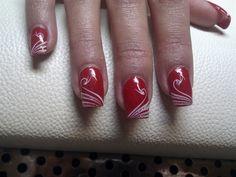 swan in red by nina86 - Nail Art Gallery nailartgallery.nailsmag.com by Nails Magazine www.nailsmag.com #nailart