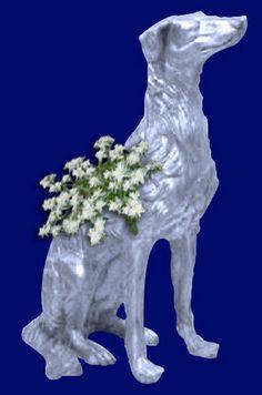 Dog- Greyhound Planter