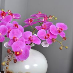 Plastic butterfly orchid artificial flower  orchid artificial overall floral artificial flowers for wedding  MA2336 #Affiliate