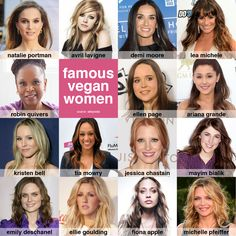 Famous Vegan Women #vegan #celebrities