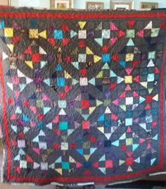 I love this quilt, squares and circles
