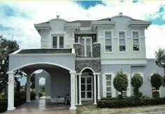 Chateux de Paris Philippine Houses, Mansions, Architecture, House Styles, Home Decor, Facades, Arquitetura, Decoration Home, Manor Houses
