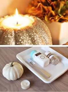 fall pumpkin candle diy
